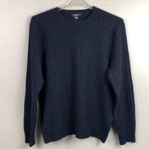 J Crew Cashmere Navy Blue Sweater Size Large